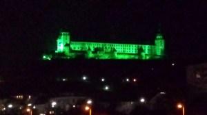 Die Festung im grünen Licht (ich bitte die Bildqualität zu entschuldigen)
